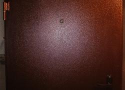 Входная дверь с простым порошковым покрытием. Цена от 17 300 руб.